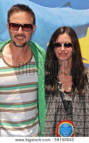 David Arquette and Courtney Cox at the Opening of Disneyland's