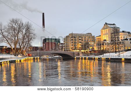 Tampere At  Twilight
