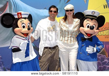 Dr. Reza Jarrahy and Geena Davis at the Opening of Disneyland's