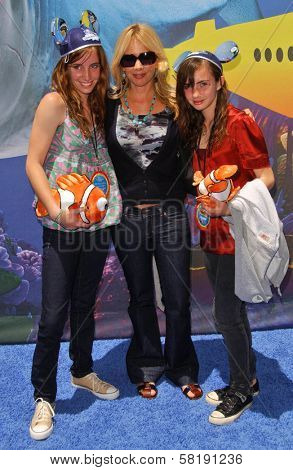 Rosanna Arquette and family at the Opening of Disneyland's