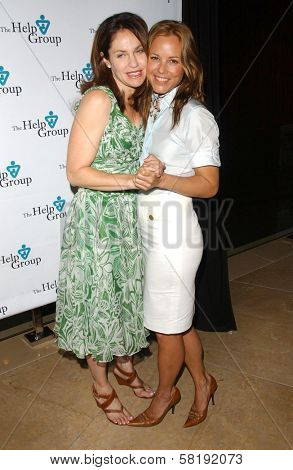 Amy Brenneman and Maria Bello at The Help Group's 30th Annual Teddy Bear Picnic to benefit children with Autism Spectrum Disorders. Beverly Hilton Hotel, Beverly Hills, CA. 06-12-07