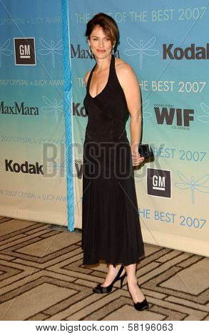 Amy Brenneman at the 2007 Crystal and Lucy Awards. Beverly Hilton Hotel, Beverly Hills, CA. 06-14-07