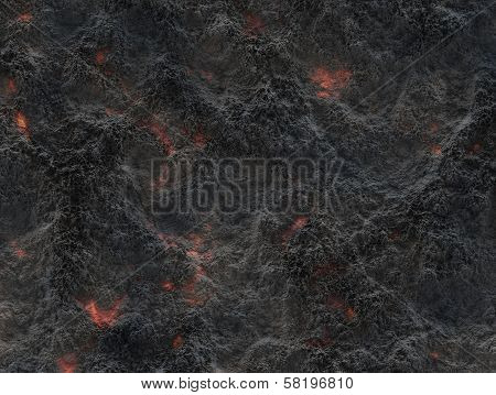 Eruption Volcano. Solidified Lava Texture