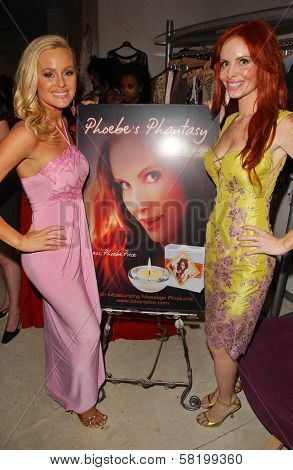 Katie Lohmann and Phoebe Price at the launch of Phoebe's Phantasy by Lotion Glow. Kaje Boutique, Beverly Hills, CA. 06-16-07