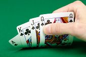 picture of poker hand  - cards in a player - JPG