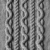 stock photo of knitwear  - Handmade grey knitting close up wool texture background - JPG