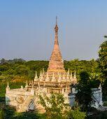 foto of nu  - Burmese Pagoda At Maha Aungmye Bonzan Monastery In Inwa - JPG