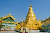 picture of pon  - Golden Pagoda Of Soon Oo Pon Nya Shin In Sagaing Hill - JPG