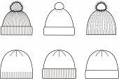 stock photo of knitted cap  - Vector illustration - JPG