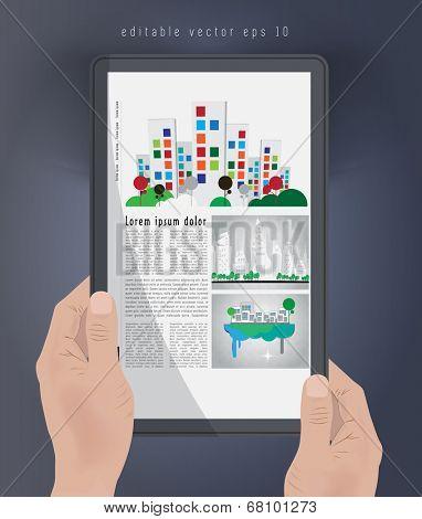 E-book. Editable vector