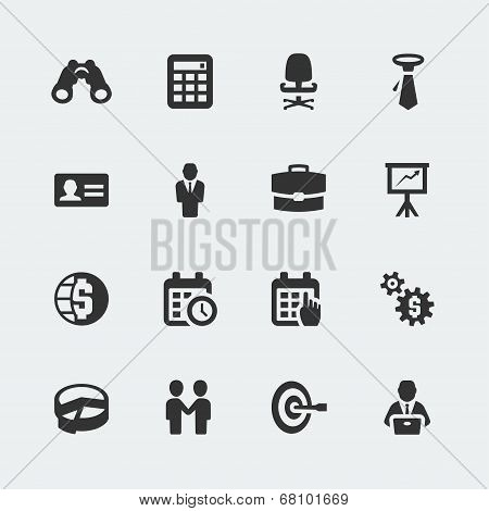 Vector Business Mini Icons Set