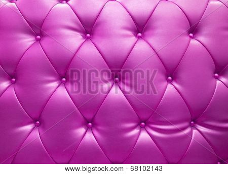 Pink Upholstery Leather As Texture And Pattern