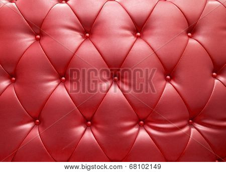 Red Blue Upholstery Leather As Texture And Pattern