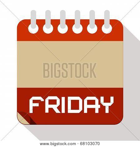 Friday Vector Paper Calendar Illustration