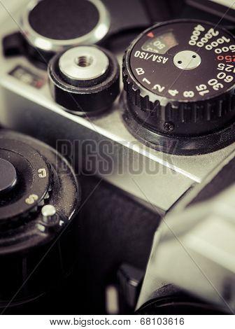 Vintage Camera Shutter Speed Knob