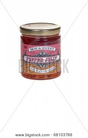 HAYWARD, CA - July 8, 2014: 11 oz jar of Trader Joe's Hot & Sweet Pepper Jelly distributed by Trader Joes', a privately held chain of specialty foods stores