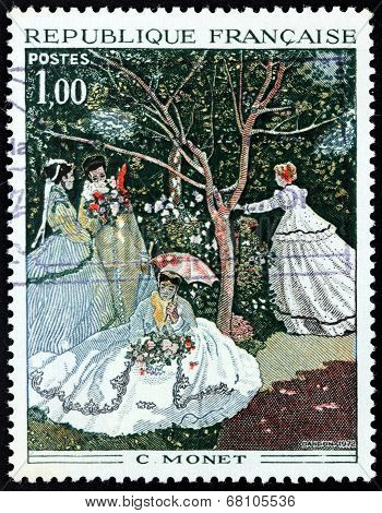 Claude Monet Stamp