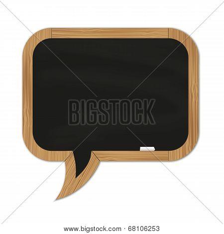Black Rounded Chalkboard