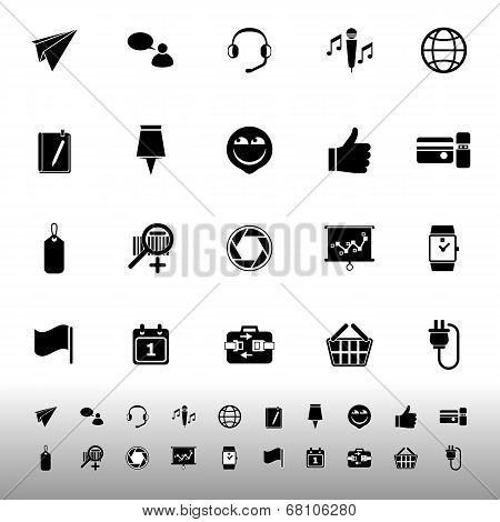 Technology Gadget Screen Icons On White Background