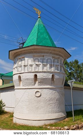 Tower (1689) Of St Boris And Gleb Monastery In Dmitrov, Russia