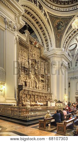Saragossa. Interior Of Cathedral Of Mother Of God Pillar
