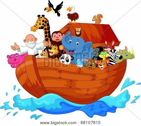Noah ark cartoon