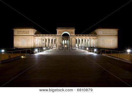 Legion of Honor at night