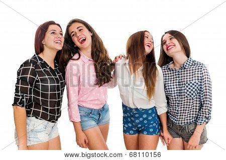 Happy Teen Girlfriends.