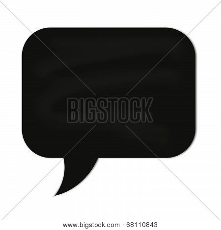 Speech Cloud Black Chalkboard