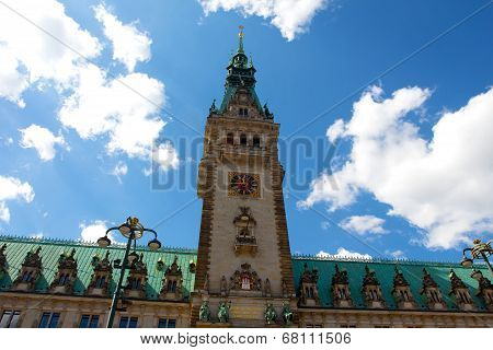 Town Hall In Town Square In Hamburg In Germany