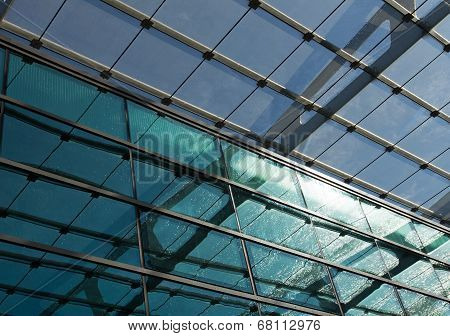 Glass Roof Of The Station In Sunlight