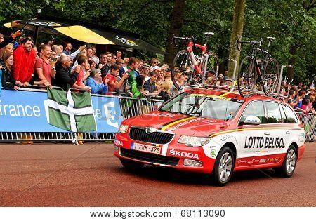 Lotto-Belisol team in the Tour de France