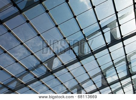 The Glass Roof Of Station In The Sunlight
