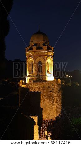 Night View Of The Tower Of The San Giovanni Battista Church