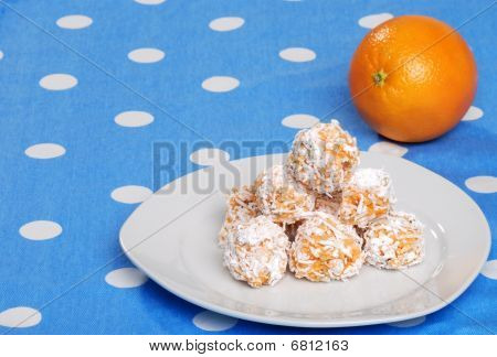 Orange Snowball Cookies