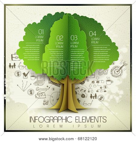 Vector Hand Drawn And Organic Paper Style Template