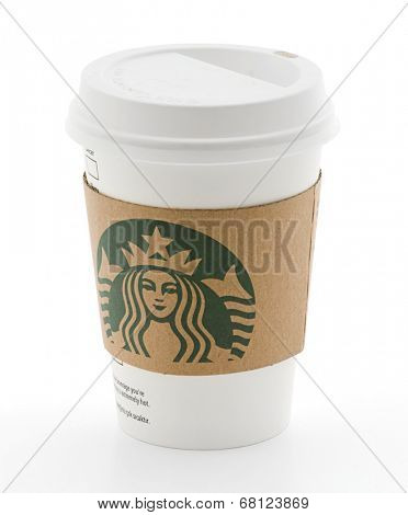 Ankara, Turkey - May 31, 2012: Cup of Starbucks Coffee, Isolated on white background