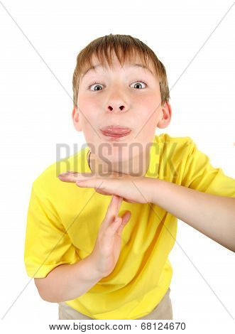 Kid Shows Time Out Gesture