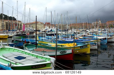 City Of Nice, France - Old Boats In The Port De Nice