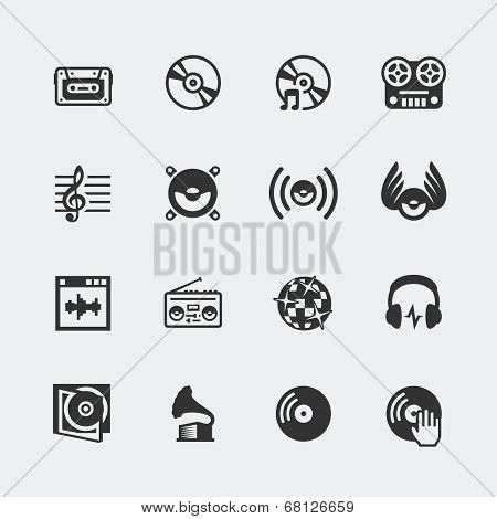 Music Related Vector Icons Set