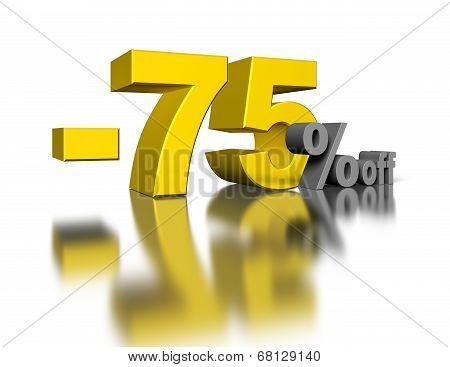 75 Percent Off