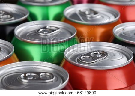 Drinks Like Soda And Lemonade In Cans