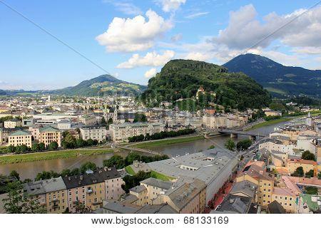 Salzach river crossing Salzburg