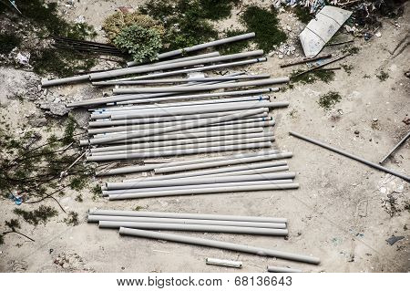 Pipes At Site