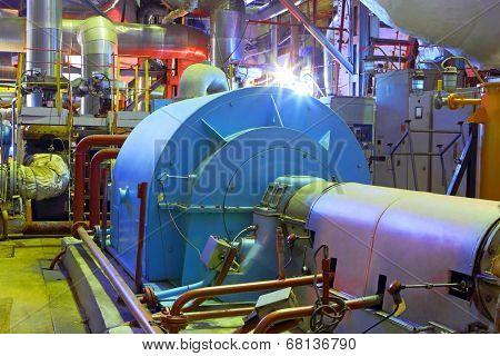 Industrial zone.Factory equipment