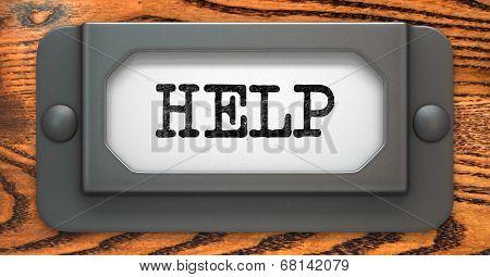 Help - Concept on Label Holder.
