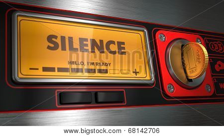 Silence on Display of Vending Machine.