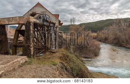 Traditional Wooden watermill