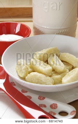 Sweet cheese gnocchi