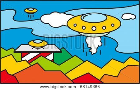 Ufo Stained Glass Pattern